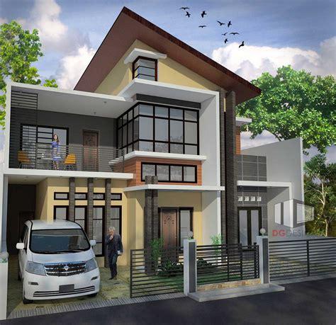 photo dg design arsitektur rumah modern bp depok rumah
