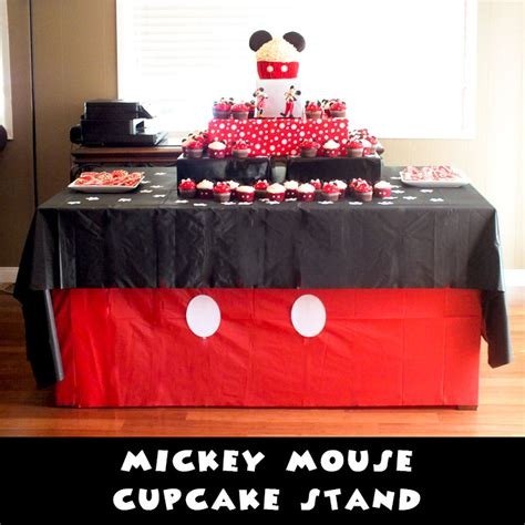 mickey mouse cupcake stand  sisters crafting
