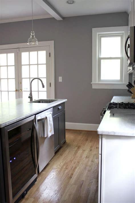 behr porpoise  love  gray walls   wood floors