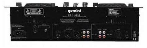 Gemini Cdm3650 Scratch Mp3dual Cd Player Mixing Console