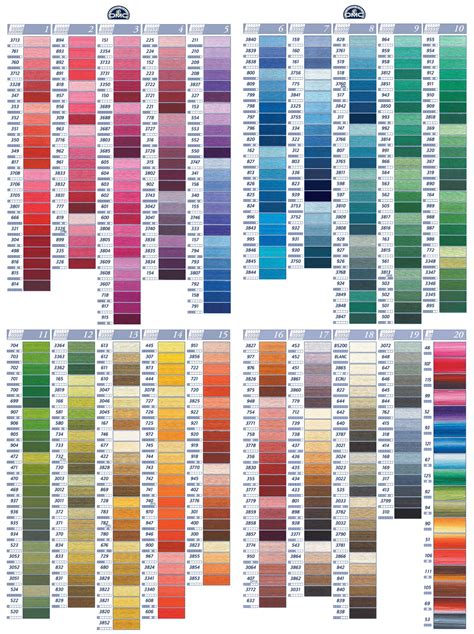 dmc thread color chart organizing embroidery thread by color families the bean