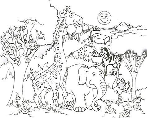 Safari Animals Coloring Pages