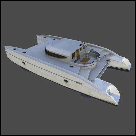 Catamaran Boat Ornament by Catamaran By Arx F 3docean