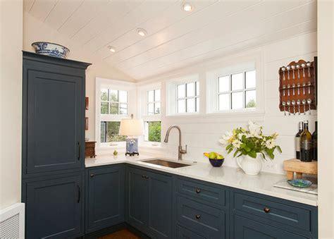 navy blue custom kitchen cabinets man  stations