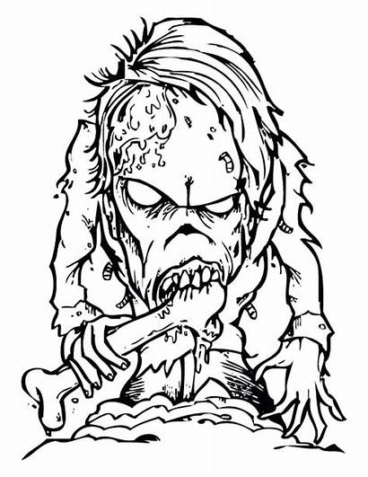 Coloring Scary Monster Pages Monsters Horror Creepy