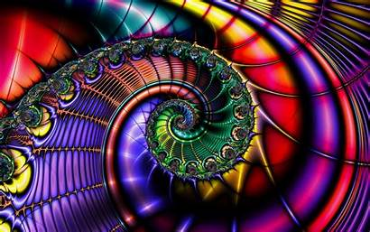 Fractal Colorful Shell Abstract Fractals Wallpapers Optical