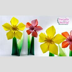 Origami  Daffodil, Narcissus (paper Flower) Doovi