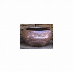 Pot En Terre Cuite émaillée : pot en terre cuite maill e mineral platine d27 h28 ~ Dailycaller-alerts.com Idées de Décoration