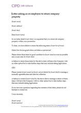 Post termination | CIPD HR-inform