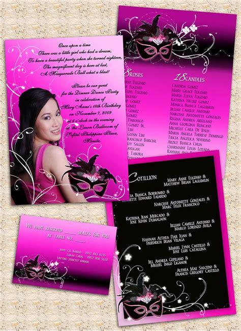 birthday invitation card masquerade theme