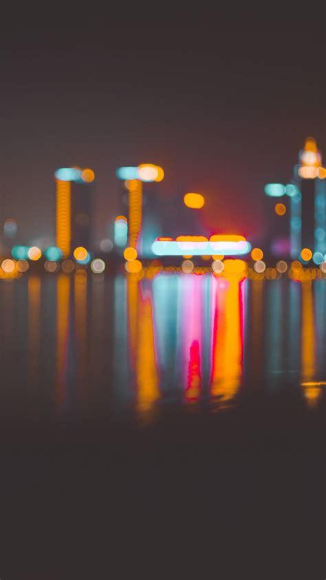 wallpaper blur bokeh city night   abstract