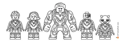 lego avengers endgame coloring pages printable coloring pages for kids step by step drawing