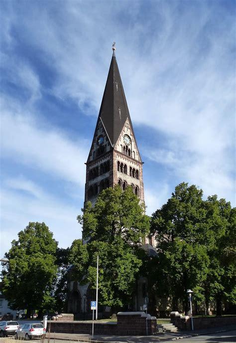 Ettlingen, Die Katholische Herzjesukirche Mit Dem 70m