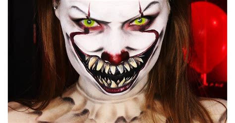 hand painted pennywise makeup  pennywise  clown makeup tutorials popsugar beauty photo