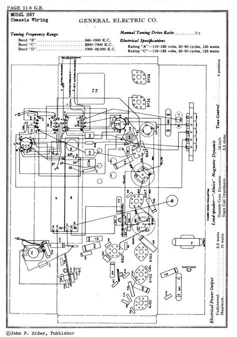 General Electric Wiring Schematic by Radio Schematics