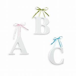 white hanging wall letter with ribbons buybuybabycom With hanging wall letters with ribbon