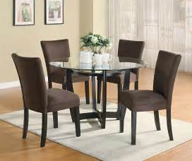 Dining Room Table Sets Modern Dining Room Set With Brown Chairs Casual Dinette Sets