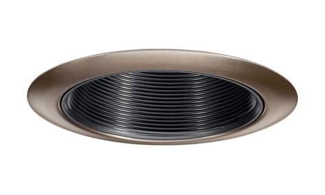 4 inch recessed lighting trim rings juno lighting 14b abz 4 inch black baffle with aged bronze