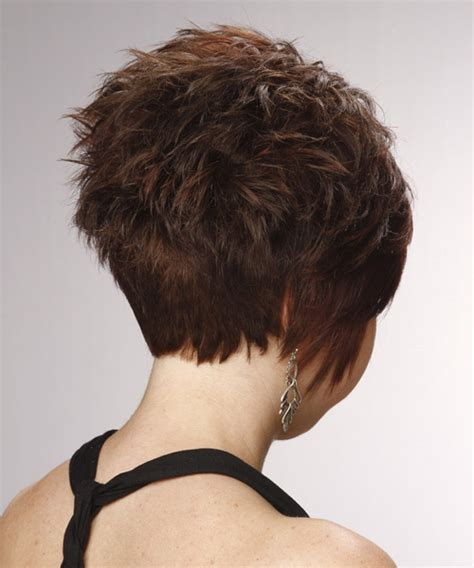 formal short straight layered pixie hairstyle  side