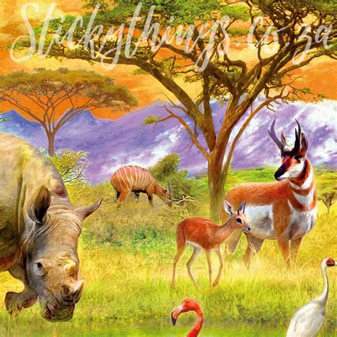 Animal Mural Wallpaper - safari animals wall mural animals wallpaper