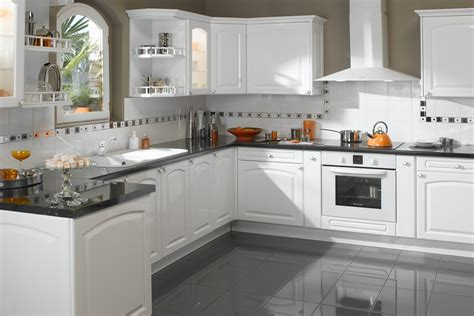 modele cuisines modele de cuisine blanche ameublement cuisine moderne