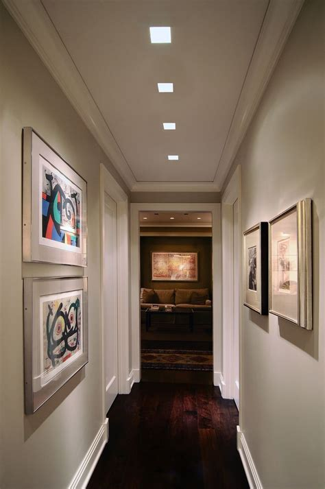 lighting idea  hallway plaster  recessed lighting