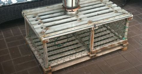Old Crab trap made into an outdoor coffee table (Dad made