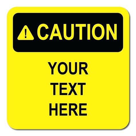 caution sign template paint sign template