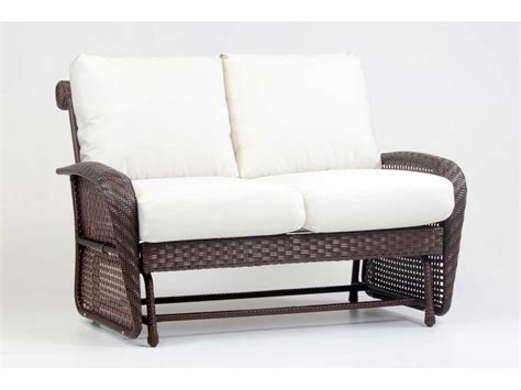 South Sea Rattan Martinique Wicker Cushion Arm Glider