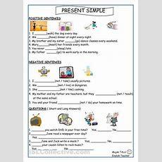 Simple Present Tense Worksheets  Esol  Simple Present Tense, English, Simple Present Tense