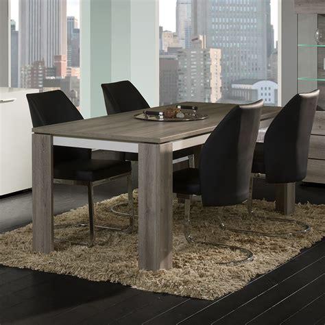 salle a manger contemporaine grise table contemporaine grise