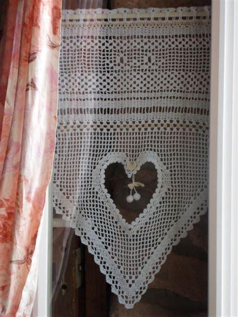 pin rideau au crochet marguerite avec tuto on pinterest