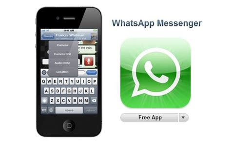 whatsapp for iphone whatsapp messenger for iphone now free in appstore