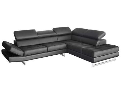 canapé liseuse canapé d 39 angle fixe droit 5 places en cuir leman coloris