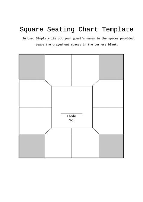Seating Chart Template 40 Great Seating Chart Templates Wedding Classroom More