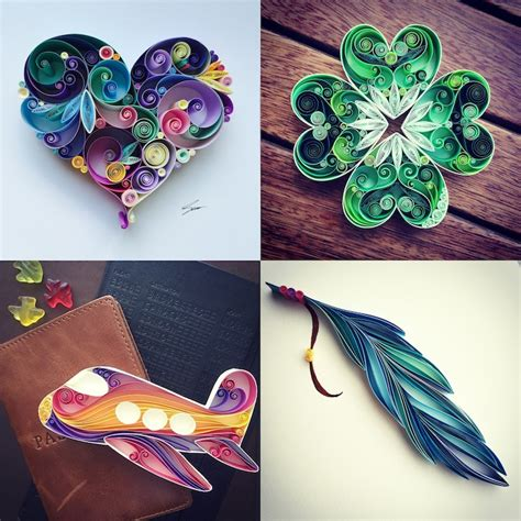 highly creative paper quilling designs crafted  sena