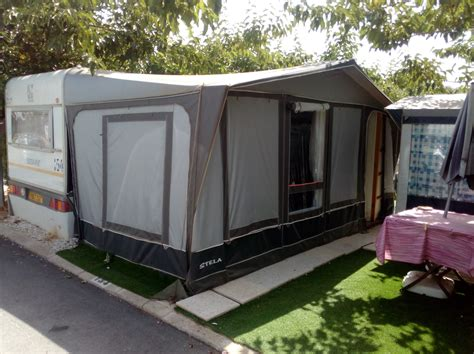 Caravan And Awning For Sale On Camping Armanello Campsite
