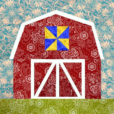 Free Barn Quilt Patterns by Barn Quilt Block Paper Pieced Quilt Pattern Pdf Pattern