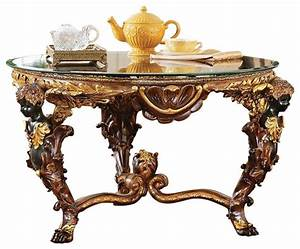 louis xiv cocktail table victorian coffee tables by With victorian coffee table set