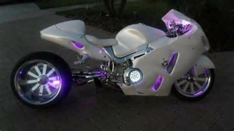 buy custom pear white suzuki hayabusa   motos