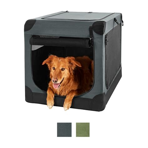 frisco indoor outdoor soft dog crate dark gray