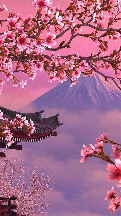 Blossom Cherry Blossoms Iphone Wallpapers Anime Japanese