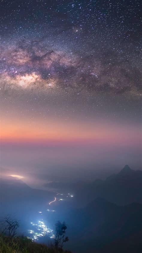 Starry Night Long Exposure Milky Way Galaxy Iphone