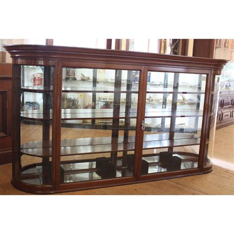glass storage andy thornton edwardian curved glass display cabinet shop fittings