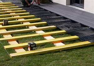 poser terrasse bois sur herbe wrastecom With poser terrasse bois sur herbe