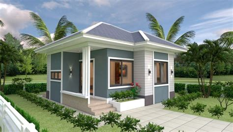 House Design Plans 7x7 with 2 Bedrooms Small house