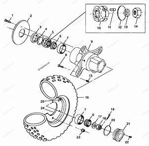 Polaris Atv 1999 Oem Parts Diagram For Front Wheel