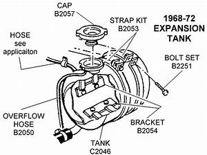 1968-72 Expansion Tank - Diagram View