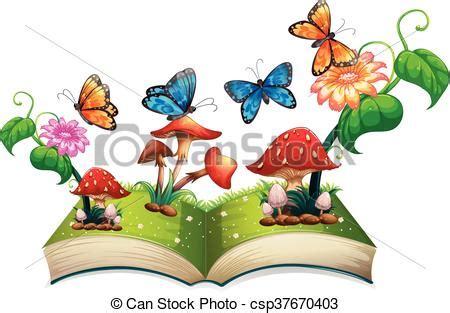 book  butterflies  mushrooms illustration