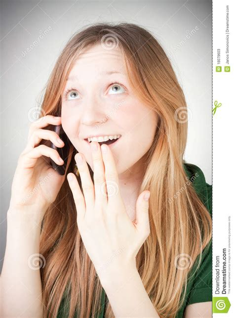 Image Of Beautiful Woman Using Her Mobile Stock Photos